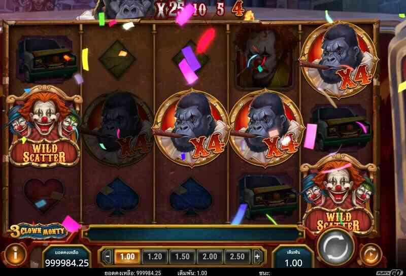เล่นไป เกม Play go - 3 Clown Monty